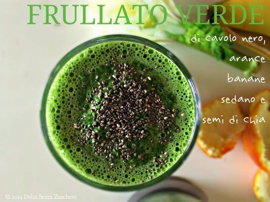 Frullato Verde Energetico (Cavolo Nero, Arance e Banane)