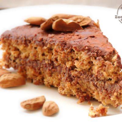 Torta di Mandorle Senza Farina con Crema al Cacao