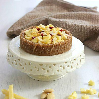 Raw Apple Pie (Ricetta Senza Glutine e Senza Zucchero)