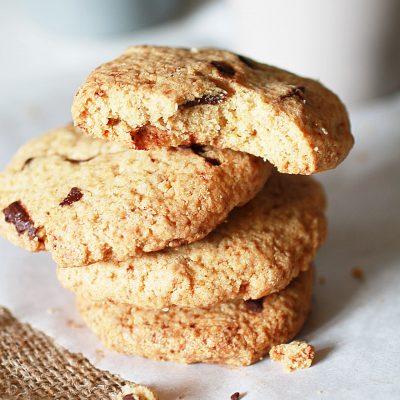 biscotti con gocce di cioccolato e farina di avena