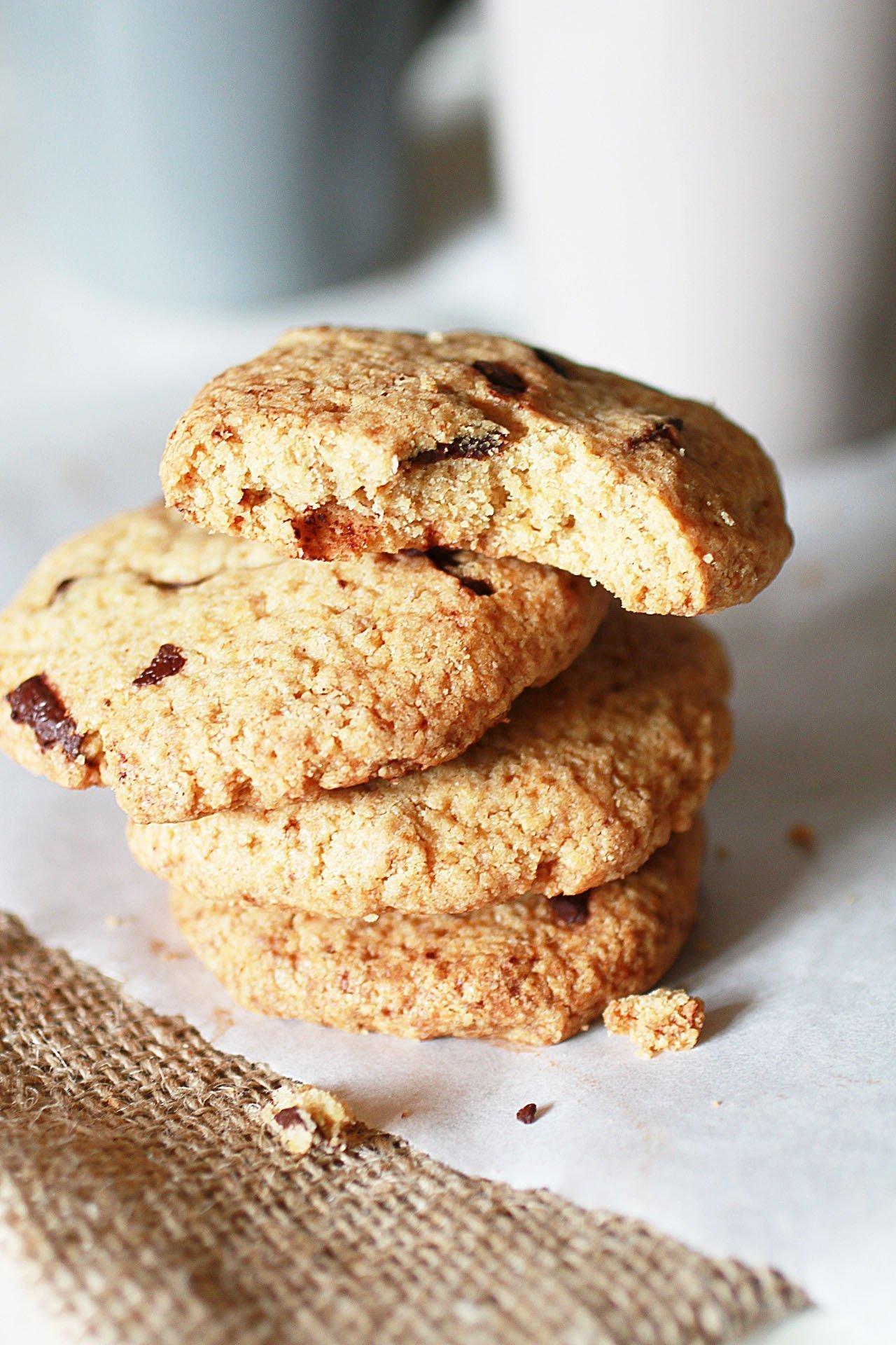 Popolare Biscotti con Gocce di Cioccolato Senza Glutine con Farina di Avena MA22