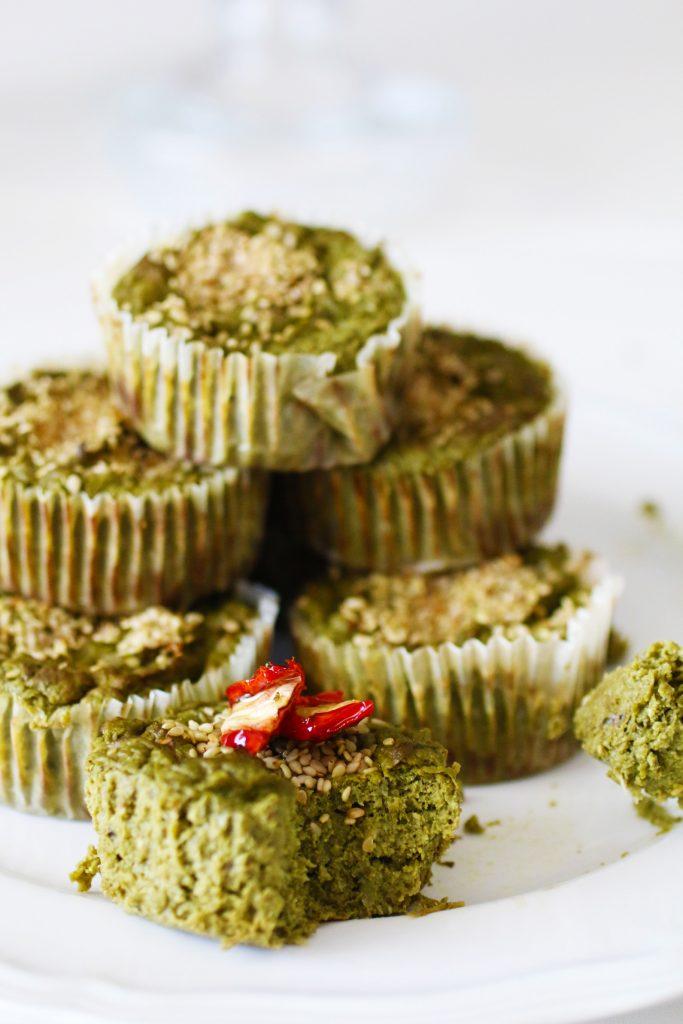 Muffin Salati alle Verdure Verdi Senza Glutine (16)