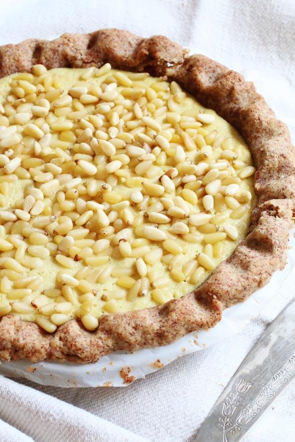 Torta della Nonna Senza Farina e Senza Zucchero