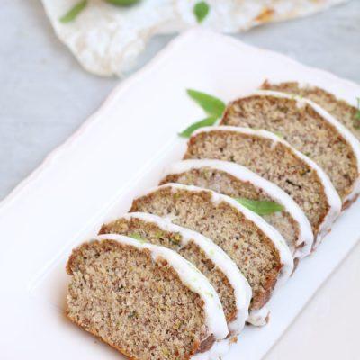 Pane Dolce alle Zucchine Senza Glutine con Glassa al Limone