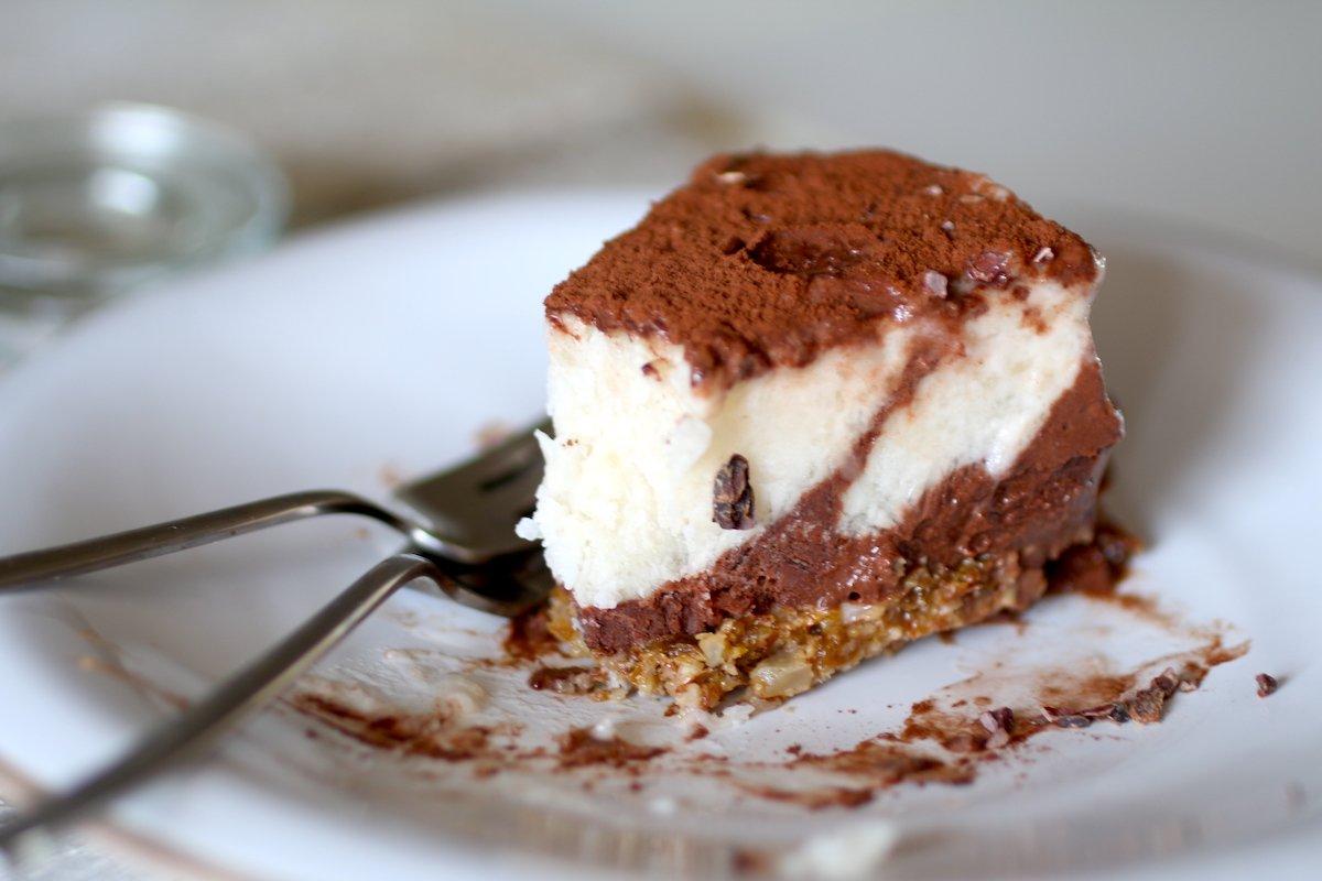 La Migliore e la più Salutare Cheesecake Tiramisù Senza Cottura (Senza Latticini)