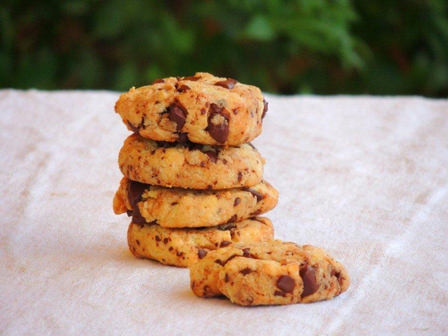 Biscotti con Farina di Mandorle e Cioccolato