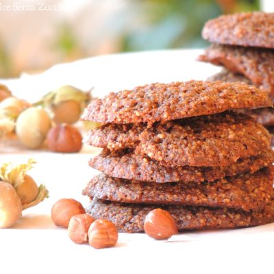 Biscotti con Nocciole Naturali Senza Zucchero senza farina