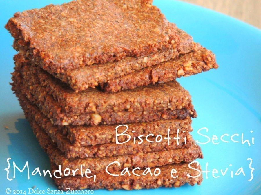 Biscotti Secchi con Mandorle, Cacao e Stevia