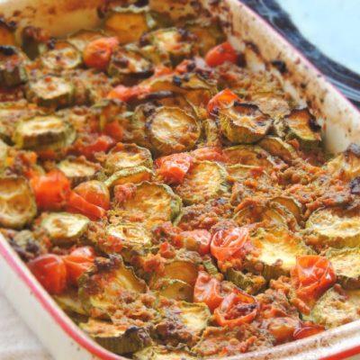 Zucchine rustiche con salsa di salvia e acciughe Paleo