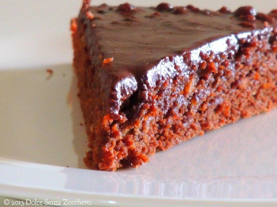 Semplice Torta Mandorle e Cioccolato (7)