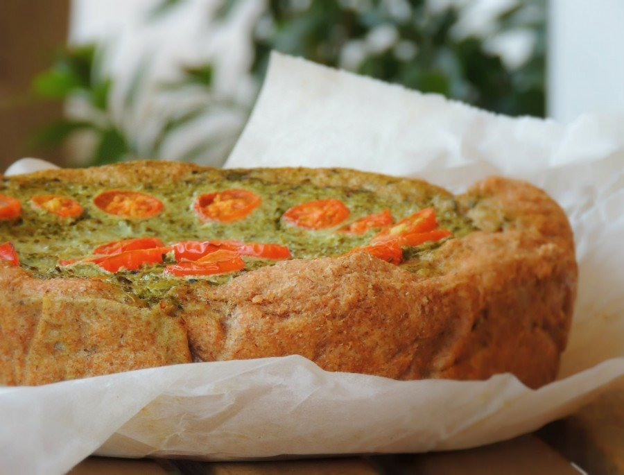 Torta Rustica con Bietole Caprino e Olive_dettaglio
