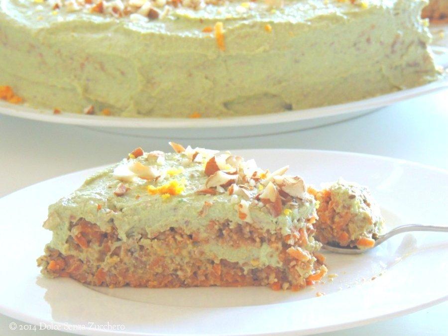 Torta di Carote, Mandorle e Arance (Crudista) | Dolce Senza Zucchero (1)
