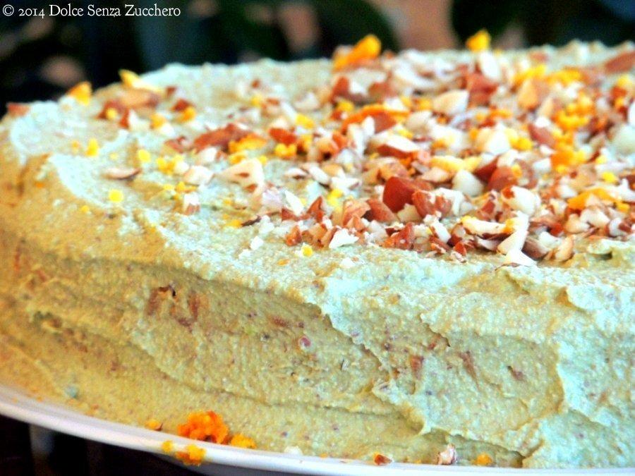 Torta di Carote, Mandorle e Arance (Crudista) | Dolce Senza Zucchero (6)
