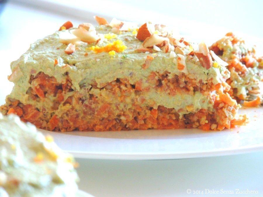 Torta di Carote, Mandorle e Arance (Crudista) | Dolce Senza Zucchero (9)